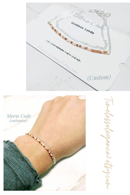 Morse code bracelet word bracelet long distance best