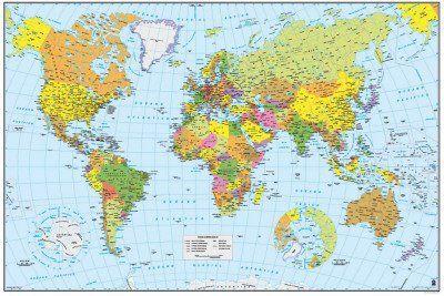 Grupo Erik Editores GPE4016  Pster Mapa del Mundo 61 x 915 cm