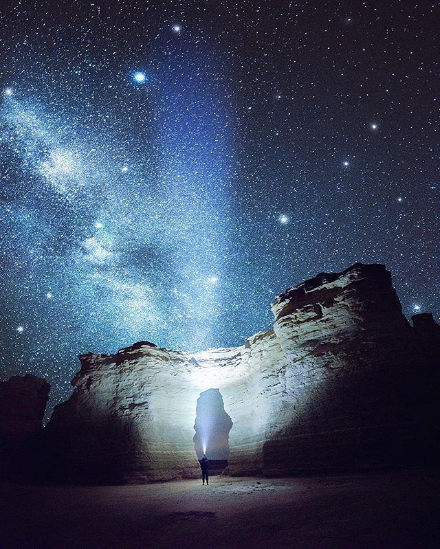 Luminous Monuments Rock Chalk Pyramids Kansas By Jaxson