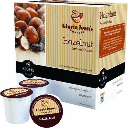Gloria Jean's Hazelnut Coffee Keurig K-Cups, 18 Count - http://hotcoffeepods.com/gloria-jeans-hazelnut-coffee-keurig-k-cups-18-count/