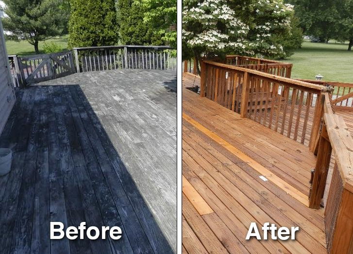 This deck was restored and brought back to life using Deck