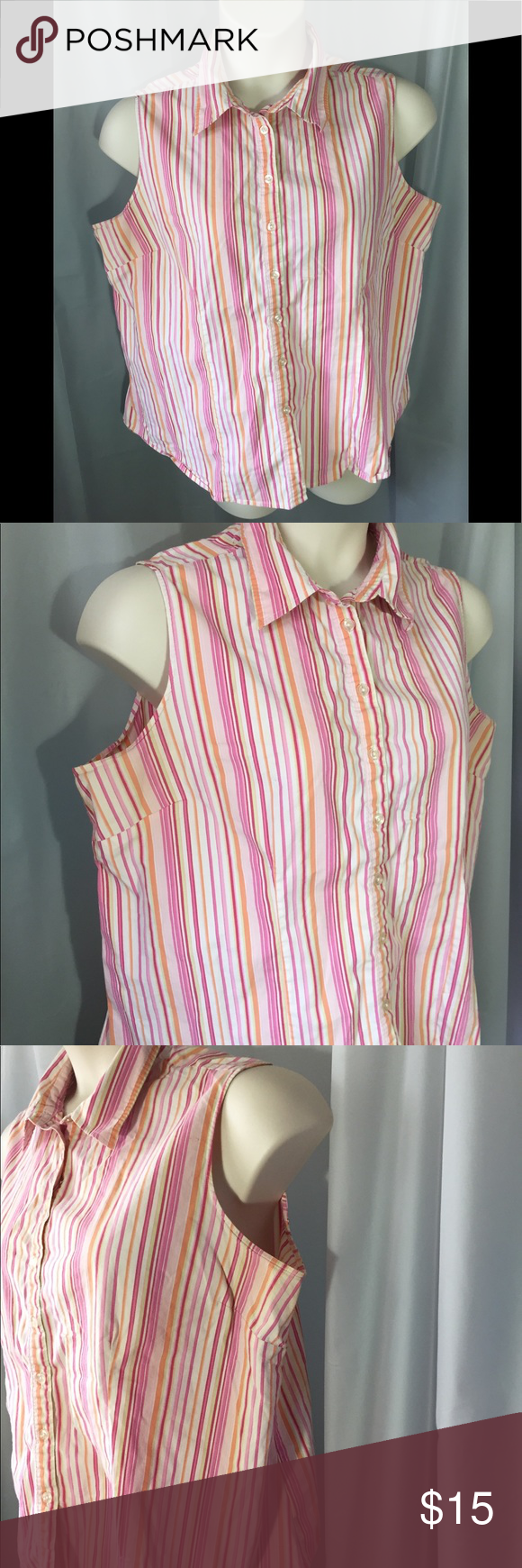 55b21710997e0 New Addition Maternity Blouse It's a nice colorful and buttons down the  front and the sleeveless to stay cool New Addition Maternity Tops Button  Down Shirts