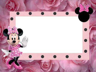 Minnie Rose Kit Completo - Con los marcos para las invitaciones, las etiquetas de los dulces, recuerdos y fotos!