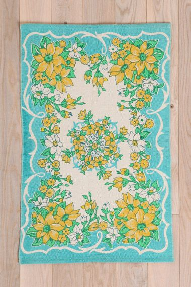 Floral Hanky Rug at Urban Outfitters