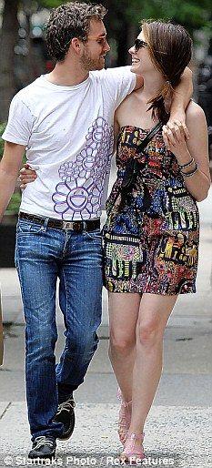 In love: With boyfriend Adam Shulman