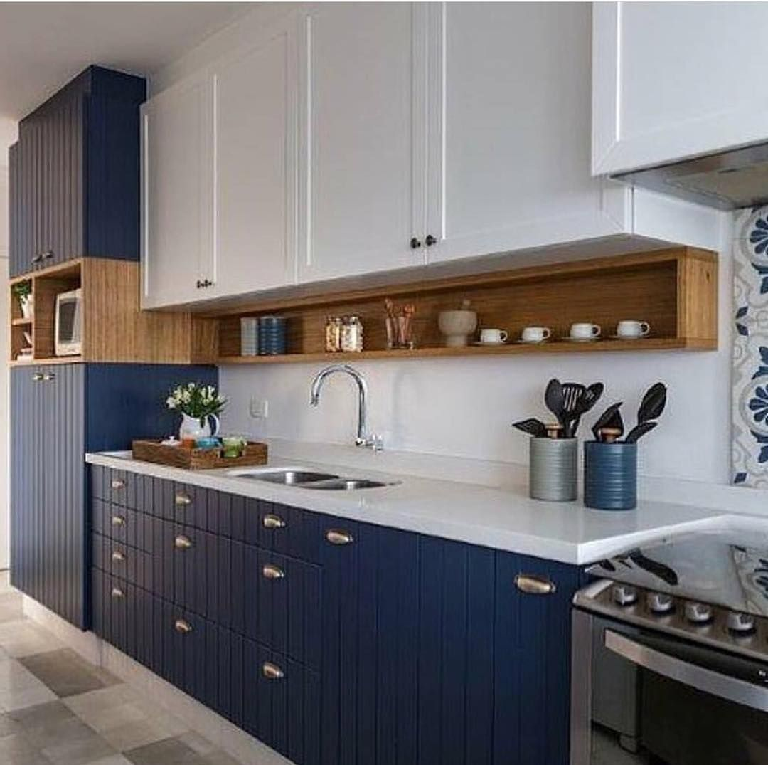 Cozinha Navy Para Os Amantes Do Azul Marinho Vi Em 2019