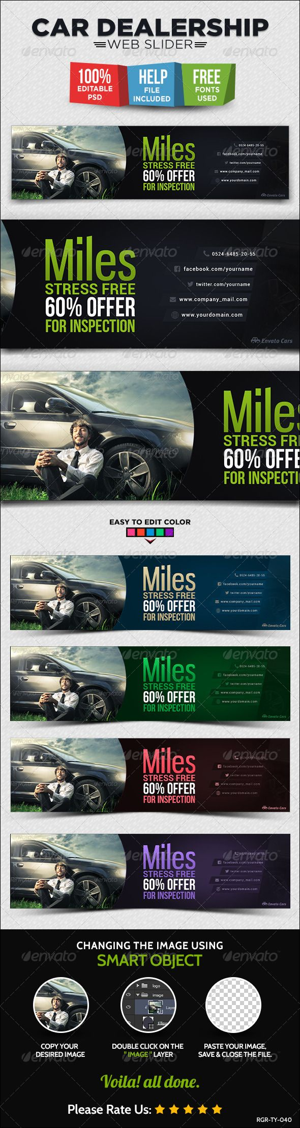 Car Dealership Web Slider Template Psd Buy And Download Http