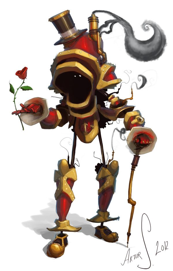 Romantic Steampunkrobot by LandscapeRunner on deviantART