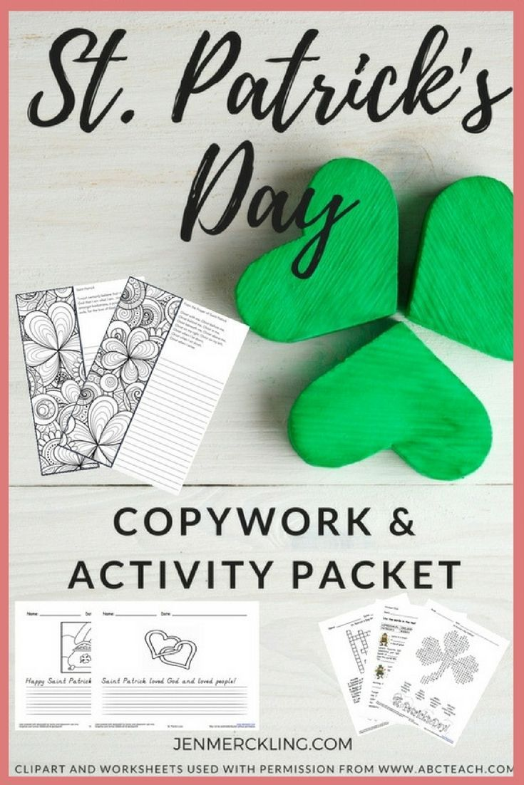 St Patrick S Day Activities For Kids St Patrick Day Activities Activities For Kids Activities [ 1102 x 735 Pixel ]