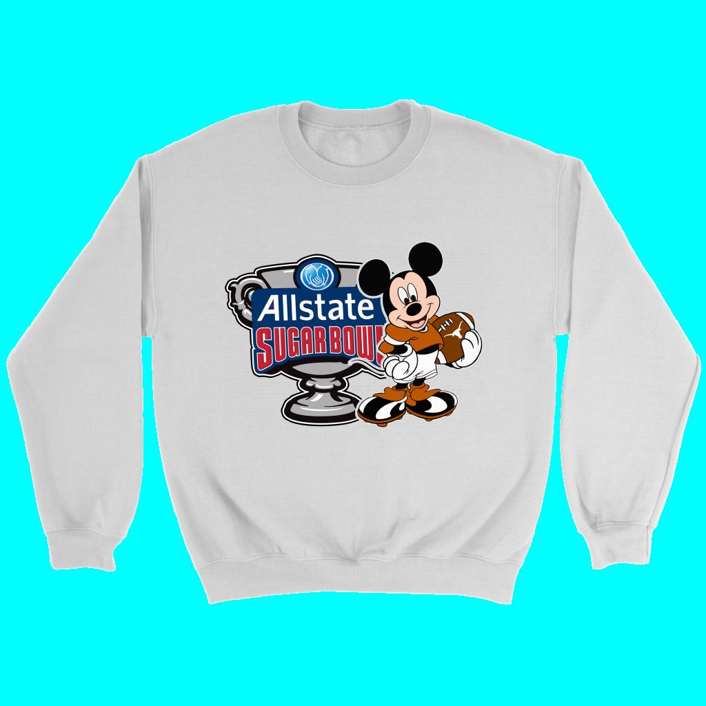 Mickey Mouse Disney Texas Longhorns 2019 Allstate Sugar Bowl Champions Football Sweatshirts Football Sweatshirt Sweatshirts Texas Longhorns [ 1024 x 1024 Pixel ]