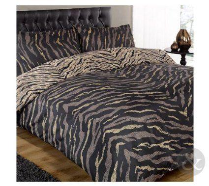 Super King Size Animal Print Duvet Cover Tiger Brown Black Reversible Bedding Black Brown Super King Size Duve Bedding Sets Duvet Bedding Sets Bed Linen Sets