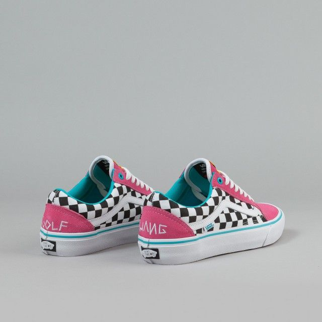0dcaab29e8a8ca Vans Old Skool Pro Shoes (Golf Wang) - Blue   Pink   White ...