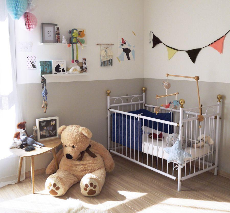 Décoration chambre bébé près du0027Annecy, couleurs douces, gris, blanc