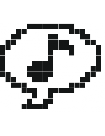 Musique Stickers Muraux Dessin Pixel Feuille A Carreau