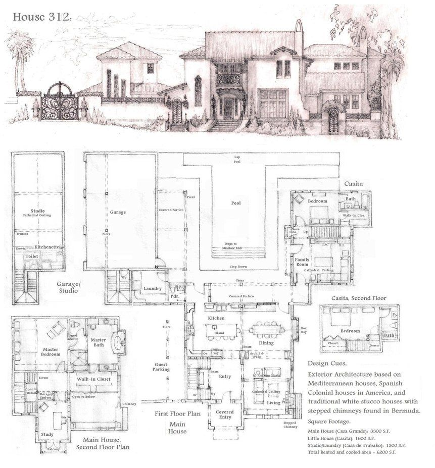 Latest Version Of House Plan 326 With The Perspective Portrait On Top And All