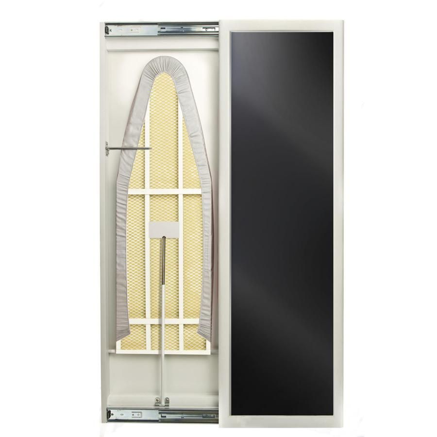 Shop Hide Away Wall Mount Hideaway Ironing Board At Lowes Com Lowes Home Improvements White Mirror Mirror Door