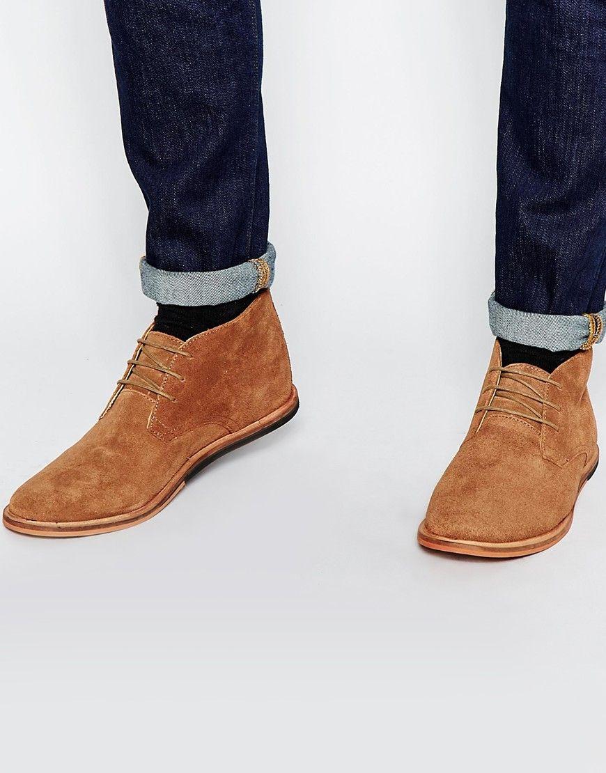 0b95f4d7d5ab Bottines chukka en daim Black Chukka Boots