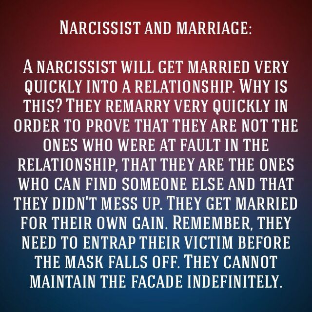Married to a narcissist woman