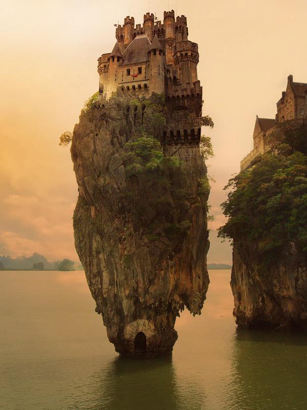 Castle @fantasy @castle @rock @cliff #ocean #sea