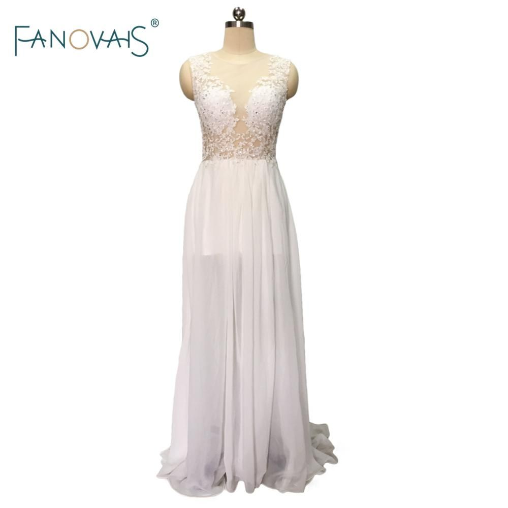 Cheap casual wedding dresses  Bohemian Wedding Dresses  Floor Length Cheap Long Sheath Lace