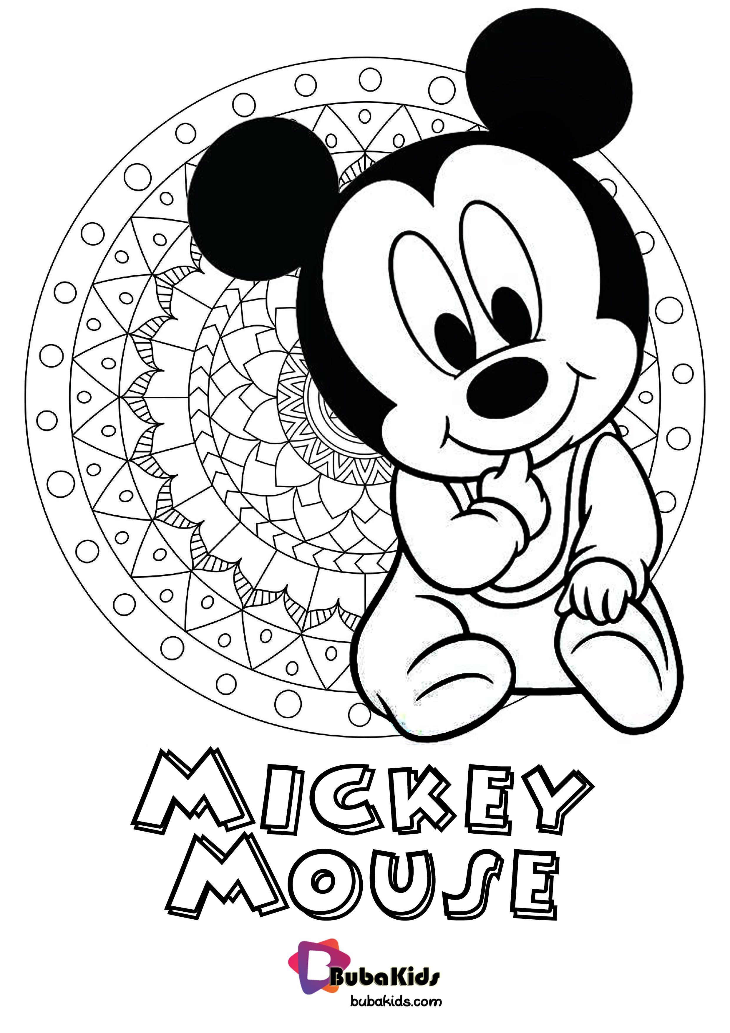Check This Cute Baby Mickey Mouse Coloring Pages