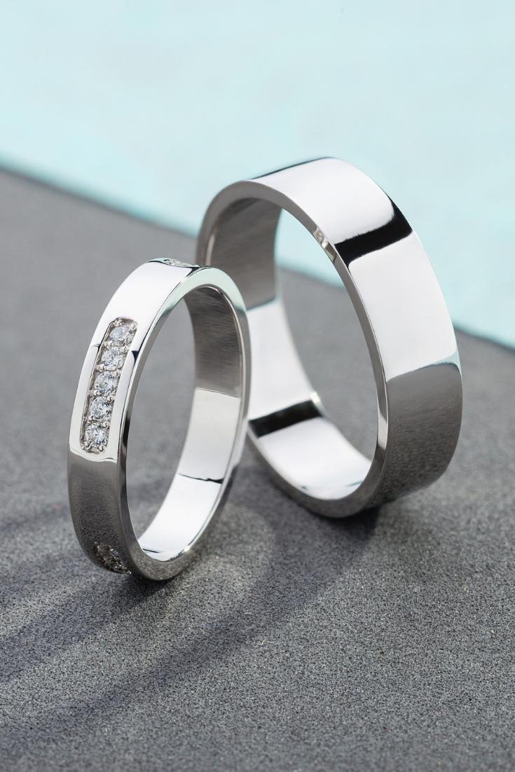 Diamond Wedding Bands Simple Wedding Bands White Gold Etsy Cool Wedding Rings Diamond Wedding Bands Big Wedding Rings