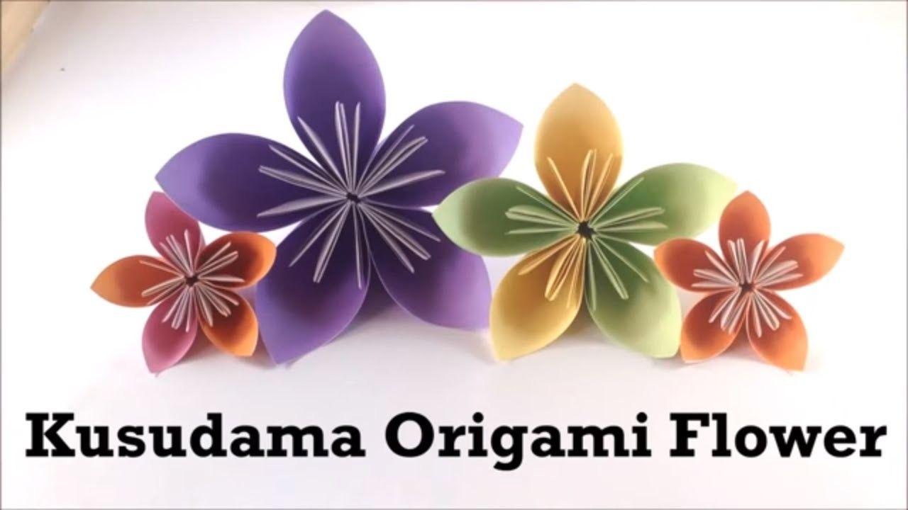 Easy Origami Kusudama Flower Easy Origami Origami And Origami