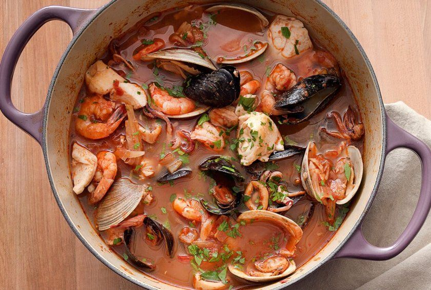 Cioppino Seafood Stew With Gremolata Toasts Recipe Seafood Stew Paleo Dinner Recipes