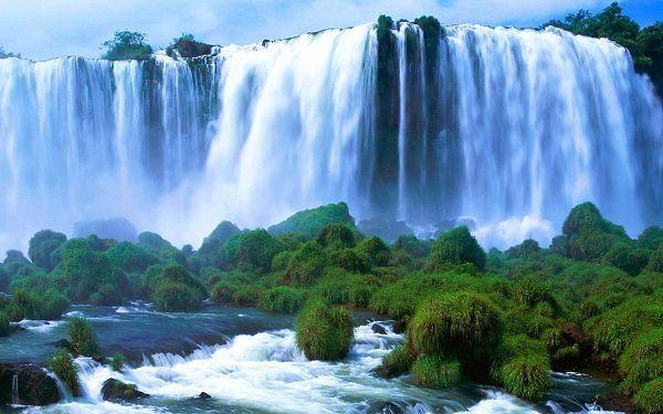 Natural Scenery Wallpaper Victoria Falls Free Wallpaper World Beautiful Waterfalls Nature Waterfall