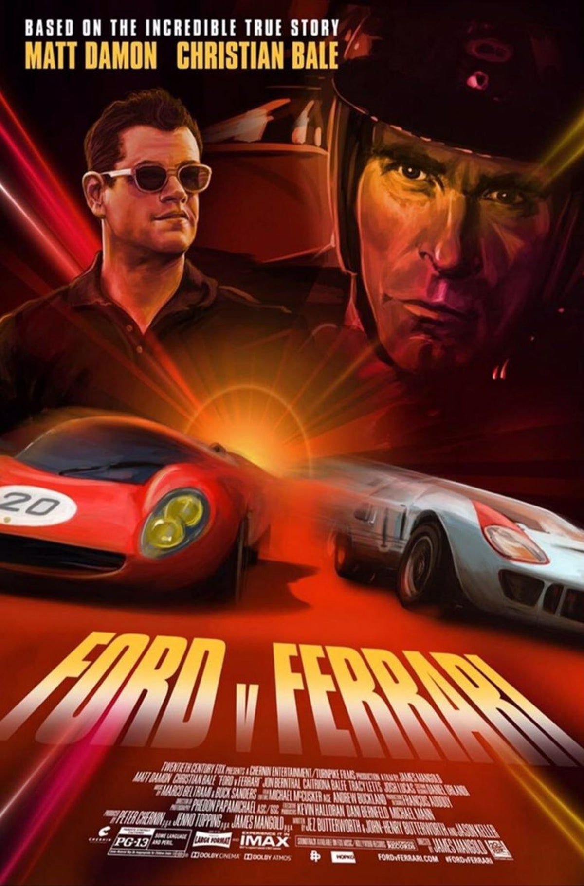 Ford Vs Ferrari Poster Art With Images Ferrari Poster Iconic