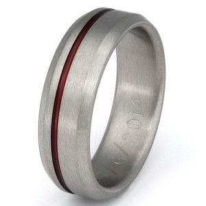 Firefighter Wedding Rings Thin Red Line Anium Band S Ring R25