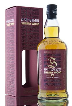 New from Springbank distillery is this cask strength sherry wood release. Distilled in 1997, this wonderful limited editon Campbeltown malt has been created from whisky aged for 17 years in a combination of fresh & refill sherry butts & hogsheads. Bottled in 2015 at 52.3% vol.