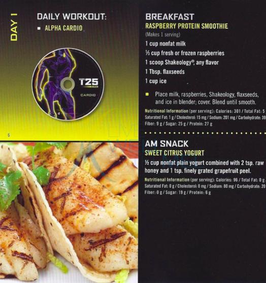 Focus T25 Diet Plan Pdf