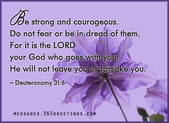words of encouragement deuteronomy 31 encouragement
