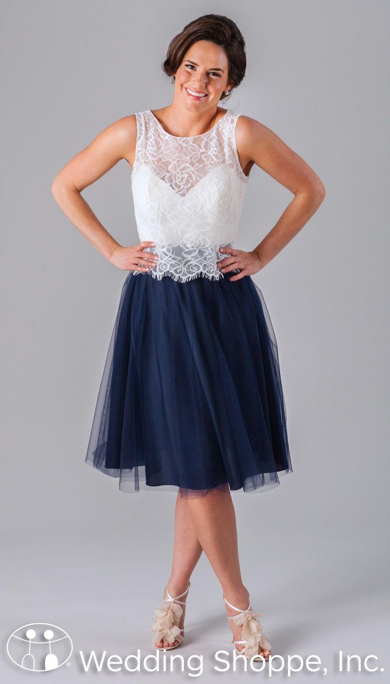 Kennedy blue bridesmaid dress blake top u jo skirt