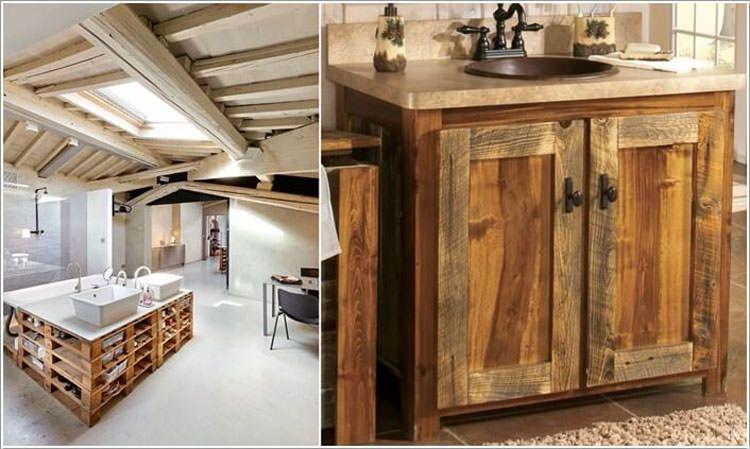 Bagno Legno Rustico : 12 sorprendenti mobili da bagno con materiale di riciclo riciclo