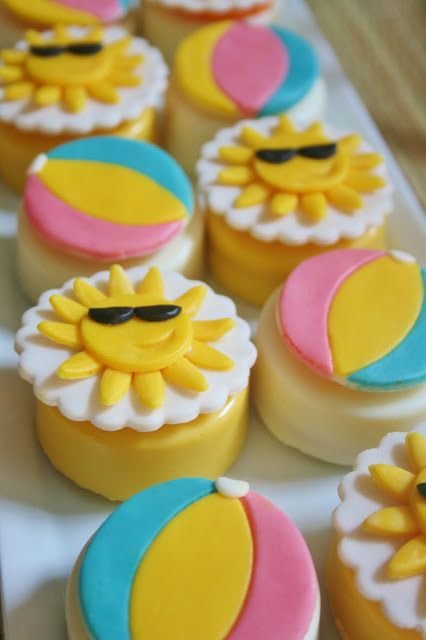 Summer Themed First Birthday Summer Cupcakes Pool Party Cakes