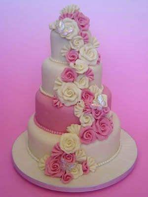 Pink Wedding Cakes Flowers Essence of CakesPart 1 Pinterest