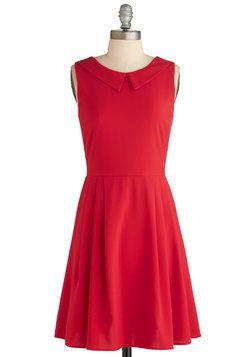 Heart on Your Sleeveless Dress, #ModCloth