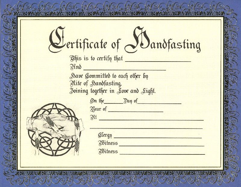 Image Detail For Handfasting Certificates At Gaias