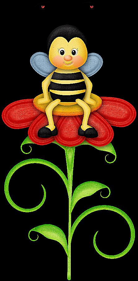 Material para la escuela, bichos, Insectos, flores, Marcos ilustraciones en PNG