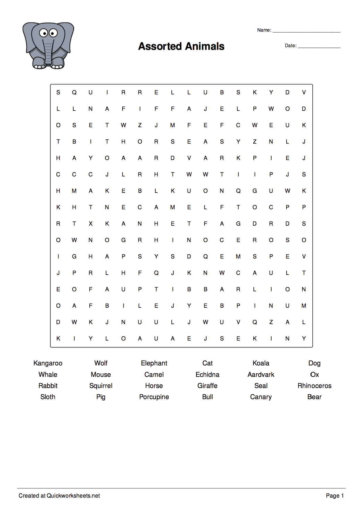 Word Scramble Wordsearch Crossword