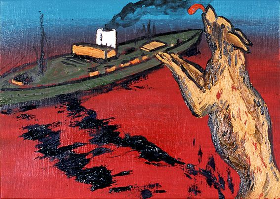 Paese amato - Enzo Cucchi - WikiArt.org