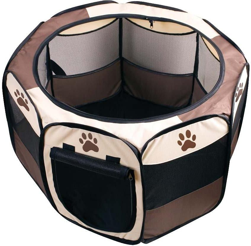 Pet Portable Playpen Octagon Soft Sided Pet Crates Gates