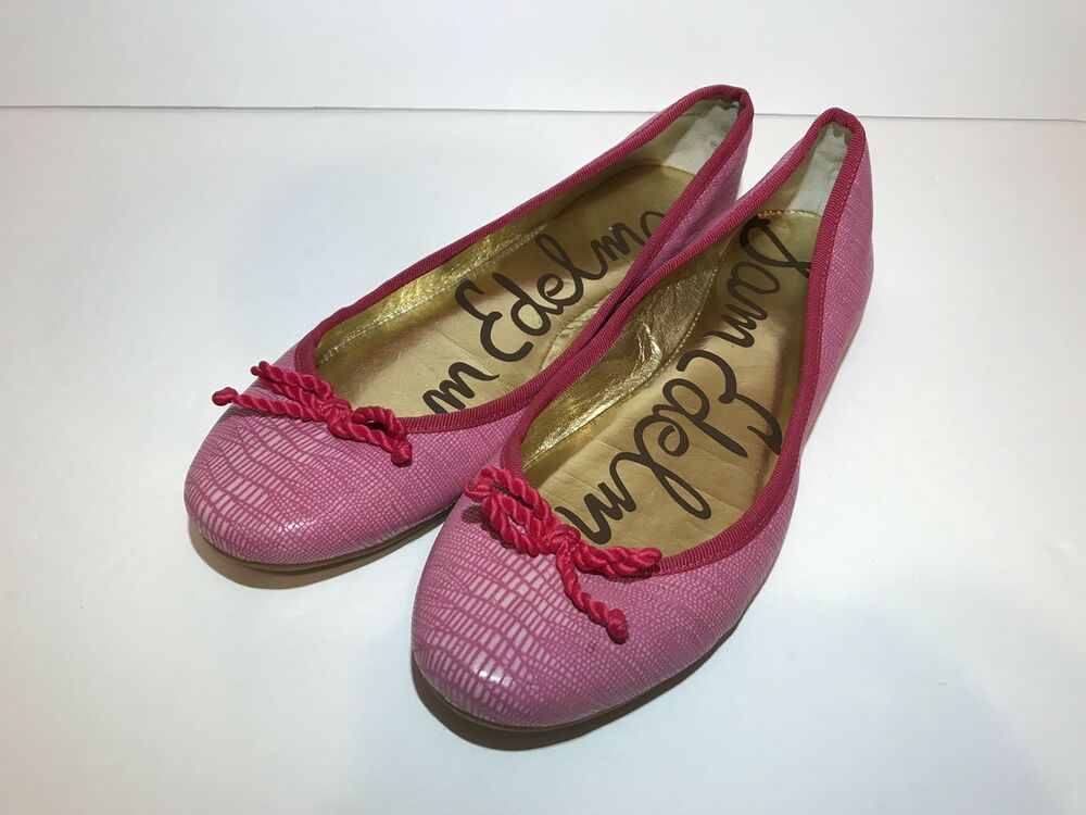 36573e9a2e56a Sam Edelman Cherise Ballet Flats Womens Sz 7.5M Pink Slip On Shoes ...