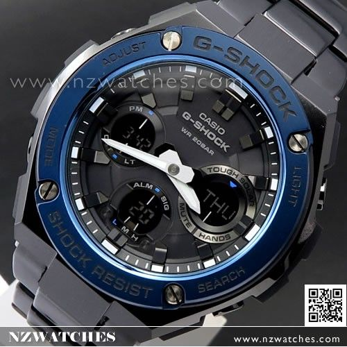 Casio G-Shock Analog Digital Solar Stainless Steel Band Sport Watch GST-S110D-1A 8988ee639f23