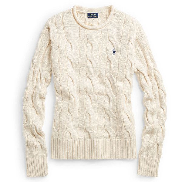 Polo Ralph Lauren Boxy Cable Cotton Sweater ($99) ❤ liked on ...