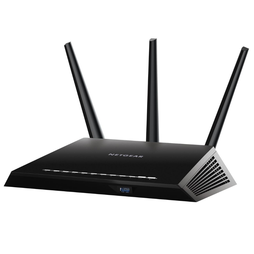 Netgear Nighthawk Ac1900 Smart Wi Fi Gigabit Router R7000 100nas At Staples In 2020 Wifi Router Netgear Gigabit Router