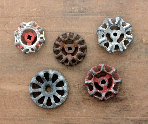 Twist It, Turn It - Vintage Valves - Geometric - Water Faucet Knobs ...