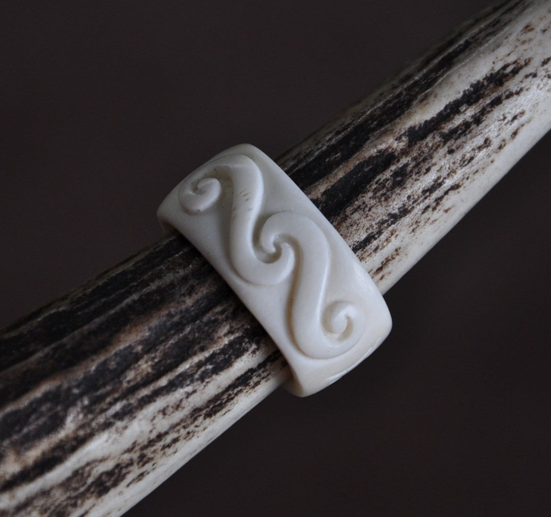 Maori Koru Trinity Symbolising Family Unity Love Hand Carved Bone Ring By Jackietump On Etsy Bone Carving Bone Ring Hand Carved Ring